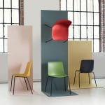 Cool picture of designer chairs from NCP in different colors.