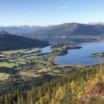 View from the hike destination, Killebukken, with a great view over fjord and mountains during autumn.