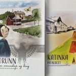 Picture of two book covers nicely illustrated with colourful drawings of small girls and houses.
