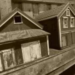 Small wooden house models of local houses.