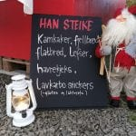 Poster at a local festival promoting lokal pastry from Han Steike Bakery.